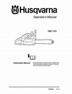 Husqvarna Chainsaw 141 User Guide