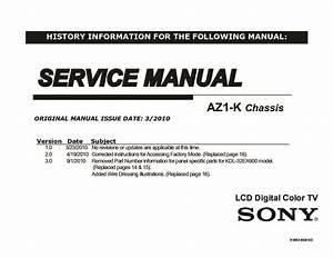 Sony Kdl-32ex600  Kdl-40ex600  Kdl-46ex600 Service Manual