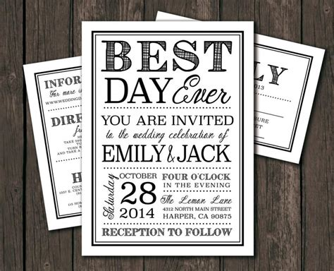 diy invitations templates moder wedding invitation template printable diy wedding invitation best day typography