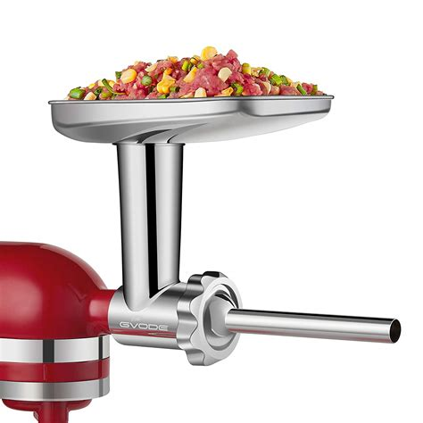 kitchenaid grinder mixer meat attachment accessories sausage stand food stainless steel dishwasher stuffer processor safe mixers including