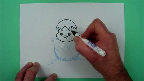 wie zeichnet man ein lustiges osterkueken zeichnen fuer