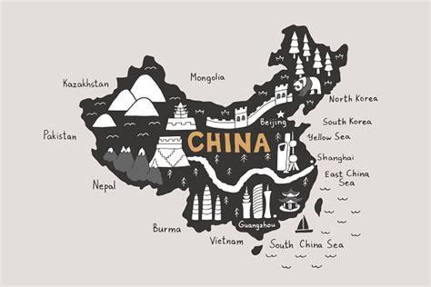 china map tourist map svg pre designed photoshop