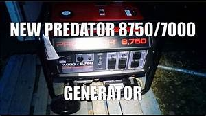 New Predator 8750  7000 Watt Generator - First Start