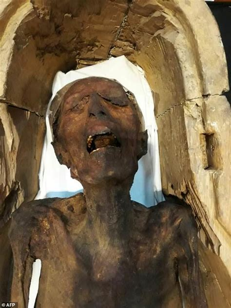 'screaming Mummy' Displayed In Egypt Museum  Daily Mail
