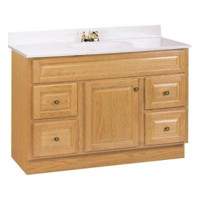 glacier bay kitchen faucets glacier bay hton 48 in w vanity cabinet only in oak hoa48dy the home depot