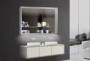 Badezimmer Spiegelschränke Mit Beleuchtung : design badezimmer spiegel spiegelschr nke spiegelregal led beleuchtung lkj100x75 ~ Frokenaadalensverden.com Haus und Dekorationen