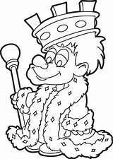 King Coloring Cartoon Printable Pages Owl Fish Printablee sketch template