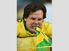 Brazil's demise, as depicted by one fan losing his damn