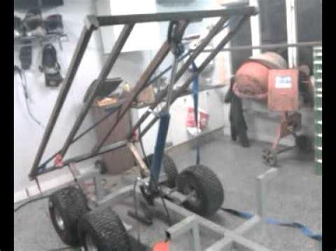 hydraulic dump trailer  atv youtube