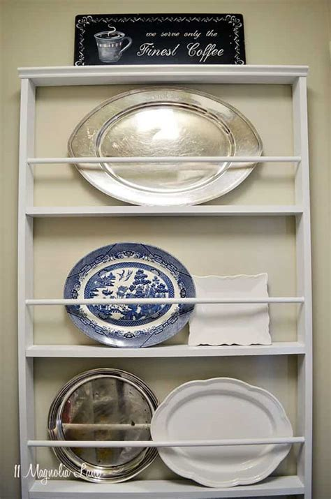 diy plate rack     stack  plates