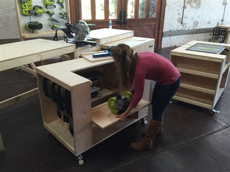 ana white build  ultimate roll  workbench system