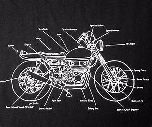 New Mens Lrg  Motorcycle Parts Diagram T