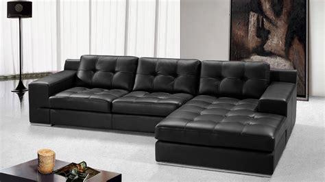 canapé d angle noir cuir canape angle cuir cameron noir