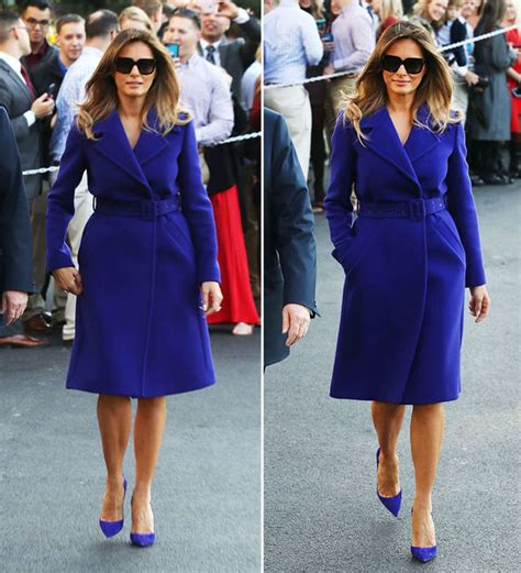 Melania Trump Blue Dress : Melania Trump Inaugural Gown - YouTube