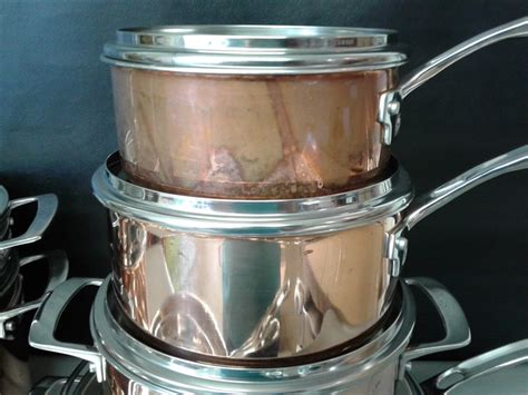 lot detail viking culinary copper stainless steel
