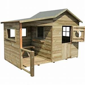 Cabane En Bois Pour Enfant : cabane enfant hacienda en bois 2354 jardin piscine ~ Dailycaller-alerts.com Idées de Décoration