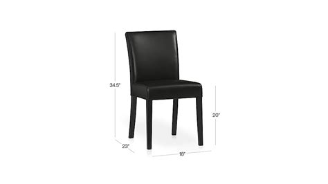 lowe onyx leather dining chair crate and barrel