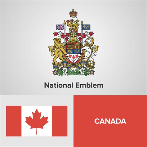 canada national emblem map  flag