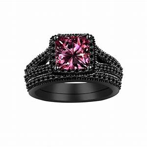 pink and black wedding ring home decor takcopcom With black wedding ring with pink diamonds