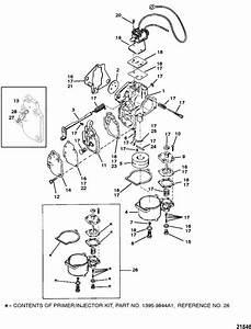 Mercury Marine 20 Hp  2 Cylinder  Carburetor  20    25    Jet 20  Parts