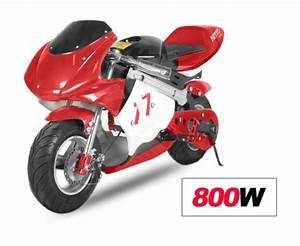 Mini Moto Electrique : mini moto racing electrique 800w rouge ~ Melissatoandfro.com Idées de Décoration