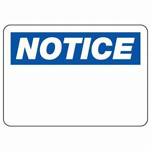 Write-On Blank Notice Sign | Emedco