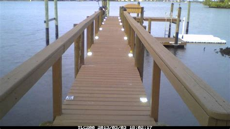 lake lite solar dock lights time lapse