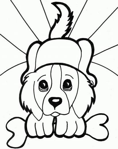 Coloring Pages Puppies Funny Dog Puppy Disney