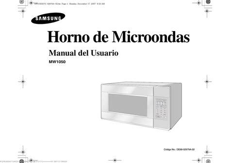 Samsung MW1050STC Manual de usuario Manualzz