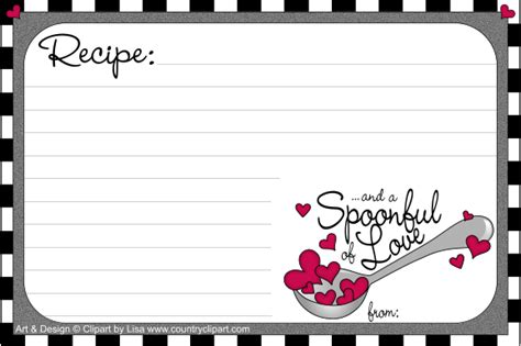 printable recipe cardscountry clipart  lisa