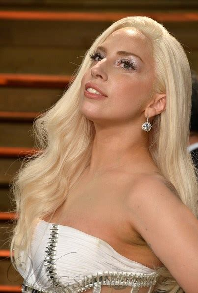 lady gaga blonde wavy synthetic hair lace front wig