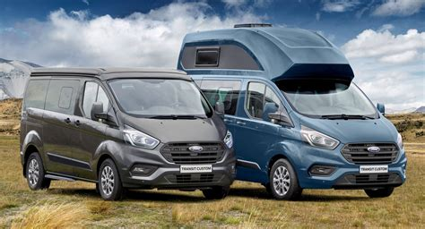 transit custom nugget  fords  camper van  europe carscoops