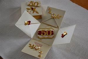Geschenke Für Eltern Basteln : bastelnordlicht maikes kreativseite explosionsbox zur goldenen hochzeit ~ Orissabook.com Haus und Dekorationen