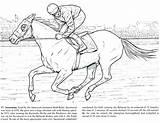 Horse Coloring Pages Racing Draft Printable Race Colouring Horses Getcolorings Getdrawings Secretariat Colorings sketch template