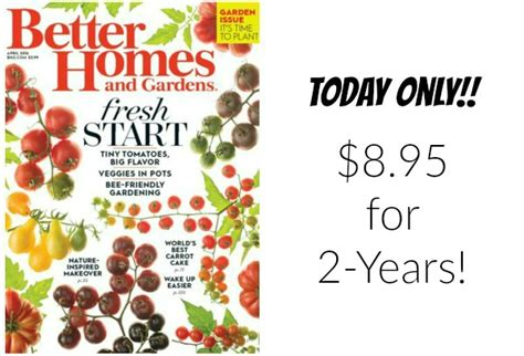 better homes and gardens magazine subscription only 8 95