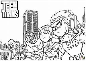 Teen Titans Coloring Page Free Printable Coloring Pages