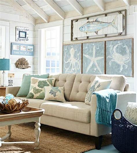 Decorating Living Room Walls - beachy living room big on wall decor bliss designs