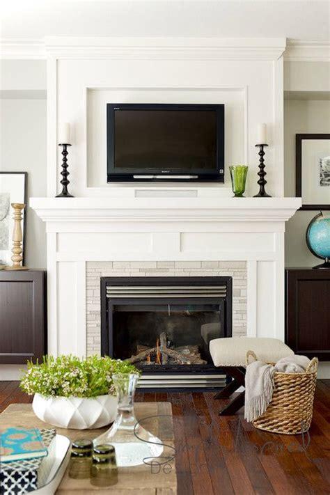 mounting  tv   fireplace design inspiration