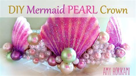 diy pearl mermaid crown youtube