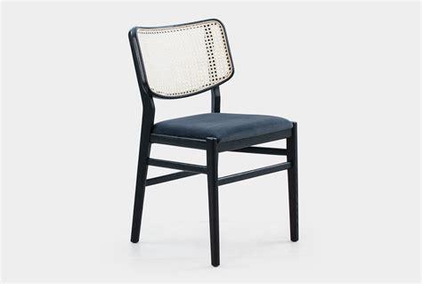 cane dining chair  black velvet seat living spaces