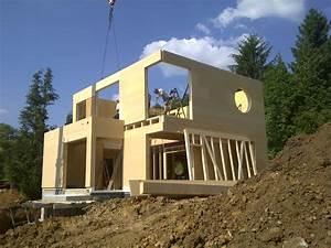 maison bois sur terrain en pente maison neuve With construction maison sur terrain en pente