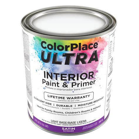 color place ultra satin interior paint primer light base 1 qt walmart com