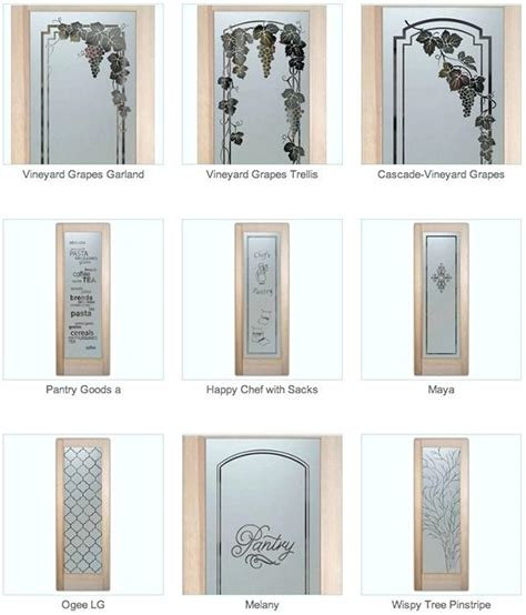 Etched Glass Pantry Doors Lowes Etched Glass Pantry Door Doors With Sans Sles Frosted
