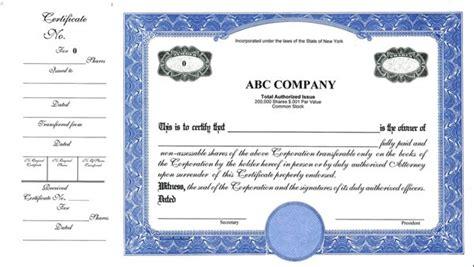 stock certificatesllc certificates share certificates