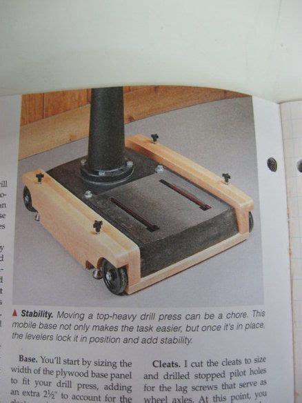 drill press mobil base drill press woodworking