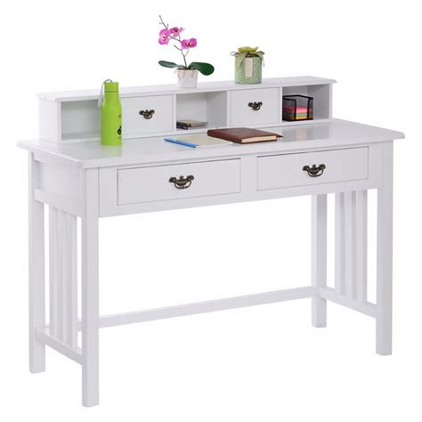 white desk with writing desk mission white home office computer desk 4