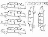 Coloring Limousine sketch template