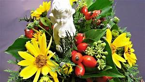 Floristik Deko Ideen : kleines grabgesteck floristik anleitung deko ideen mit flora shop youtube ~ Eleganceandgraceweddings.com Haus und Dekorationen