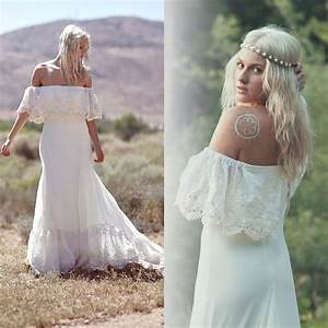 Discount 2015 new bohemian wedding dresses casual boho for Casual bohemian wedding dresses