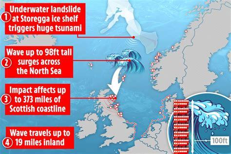 forntida tsunami som misshandlade storbritannien med  foot vagor kunde utplana hela staeder om
